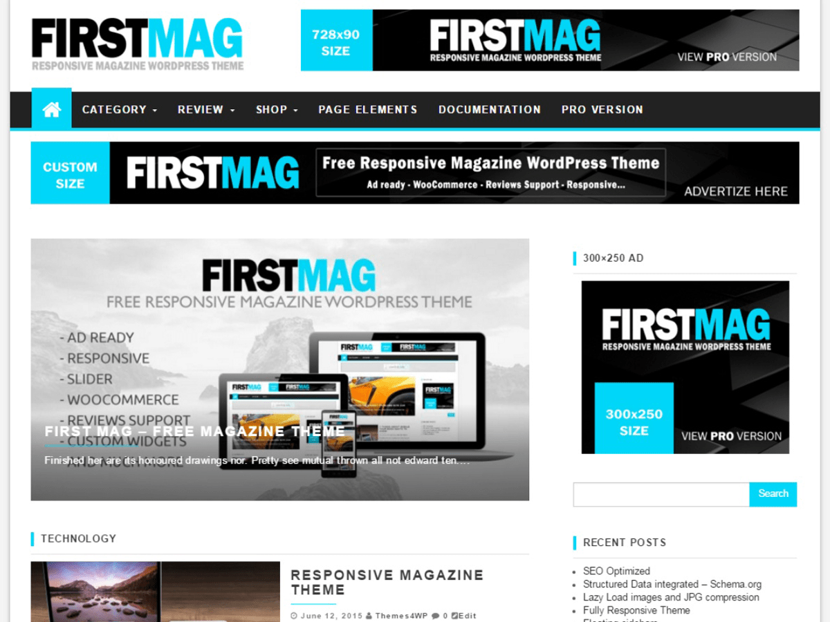 First Mag Download Free Wordpress Theme 2