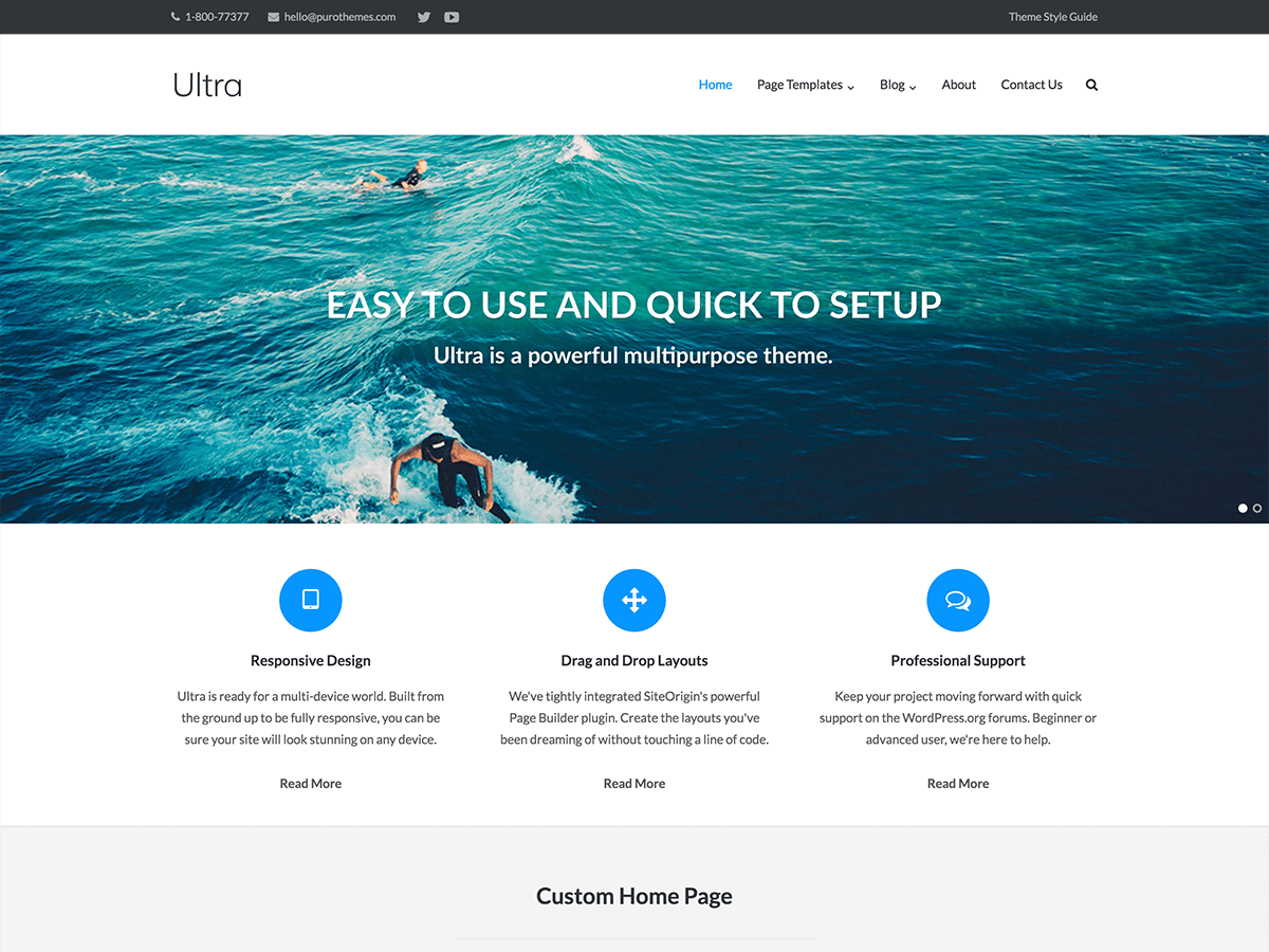 Ultra Download Free Wordpress Theme 1