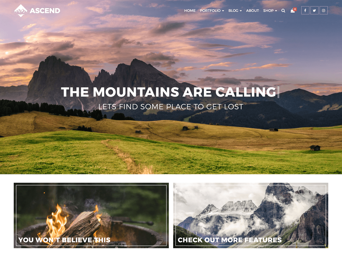 Ascend Download Free Wordpress Theme 2