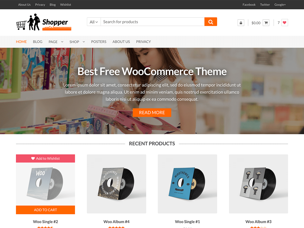 Shopper Download Free Wordpress Theme 4