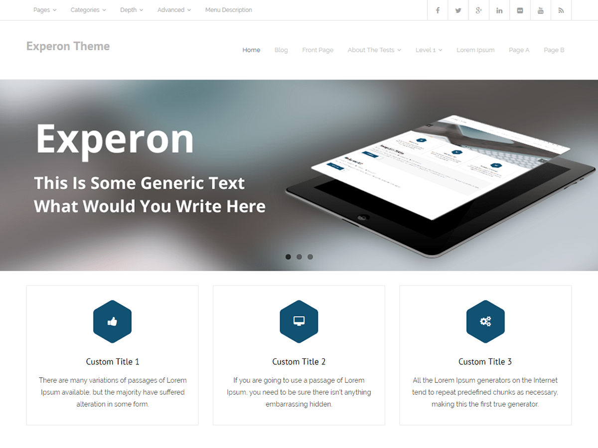 Experon Download Free Wordpress Theme 2