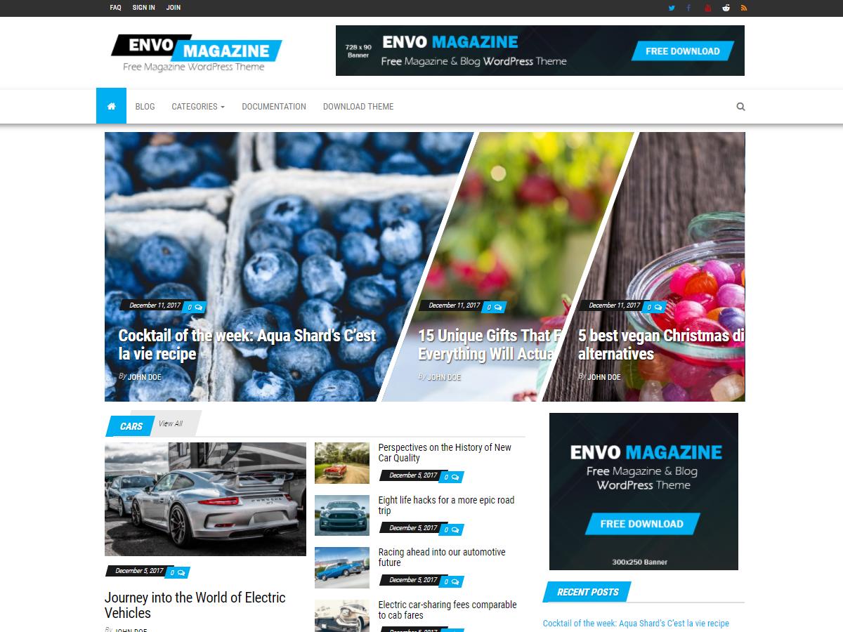 Envo Magazine Download Free Wordpress Theme 5