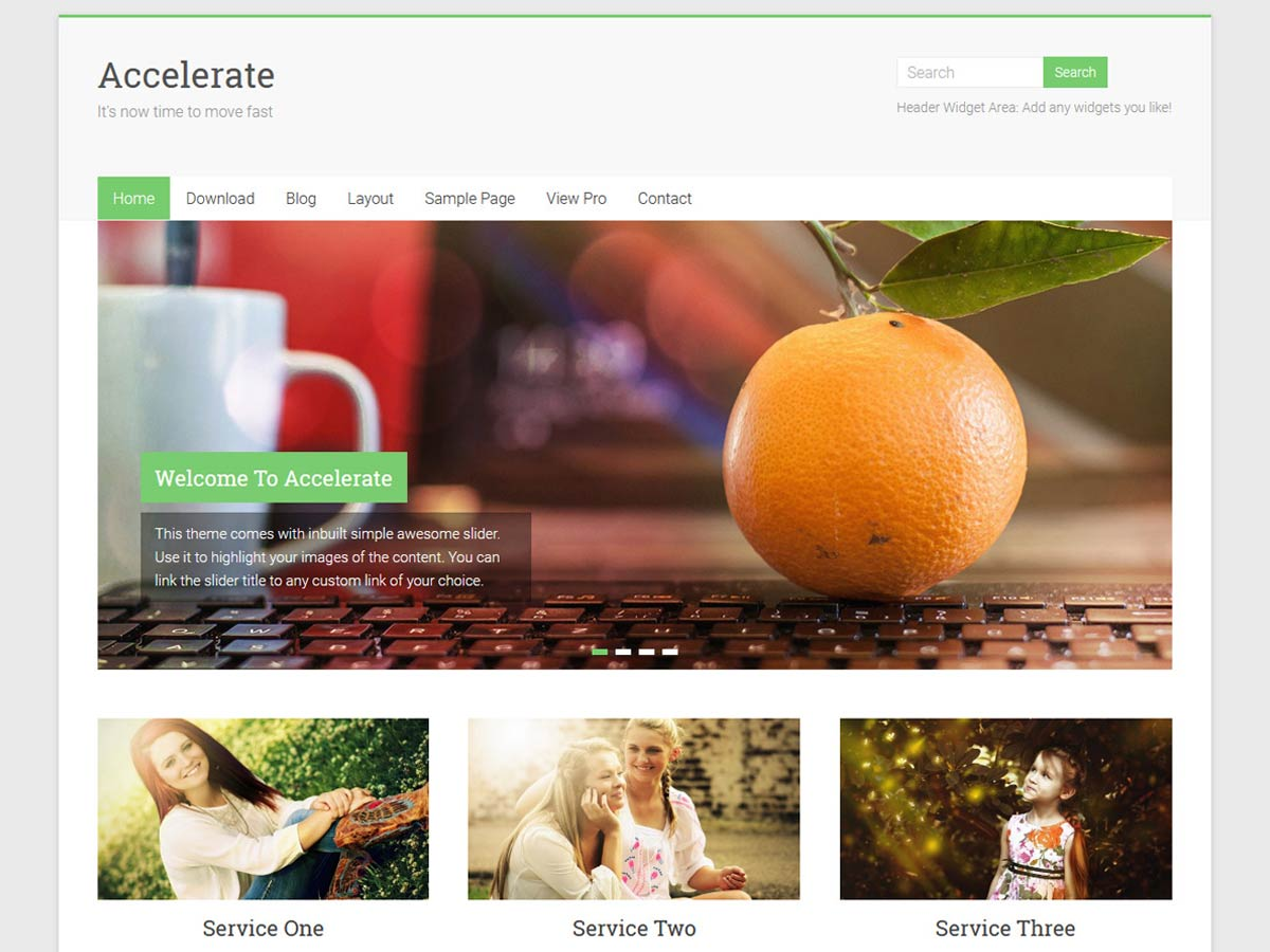 Accelerate Download Free Wordpress Theme 2