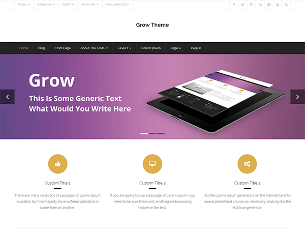 Grow Download Free Wordpress Theme 3