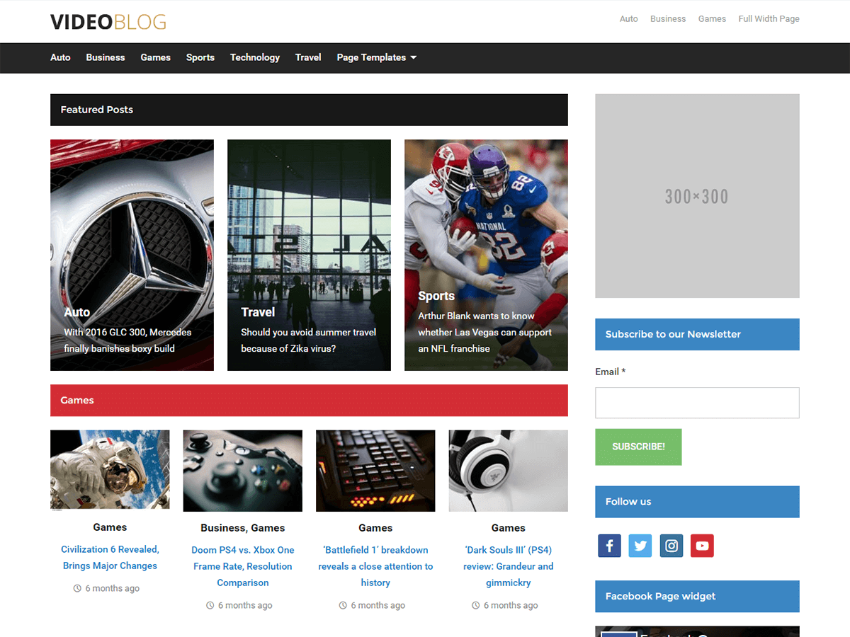 Videoblog Download Free WordPress Theme