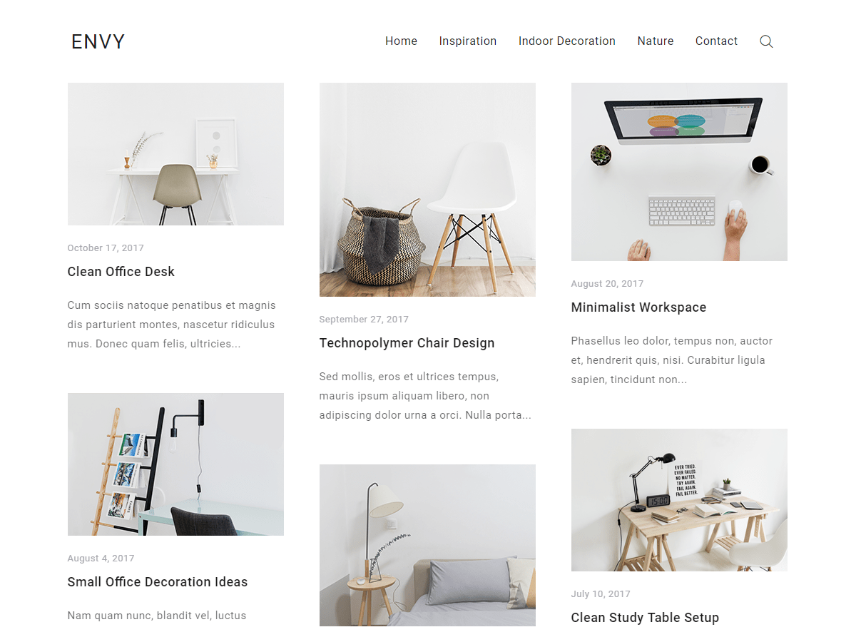 Envy Blog Download Free Wordpress Theme 4