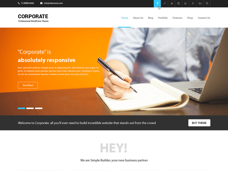 Corporate Lite Download Free Wordpress Theme 2