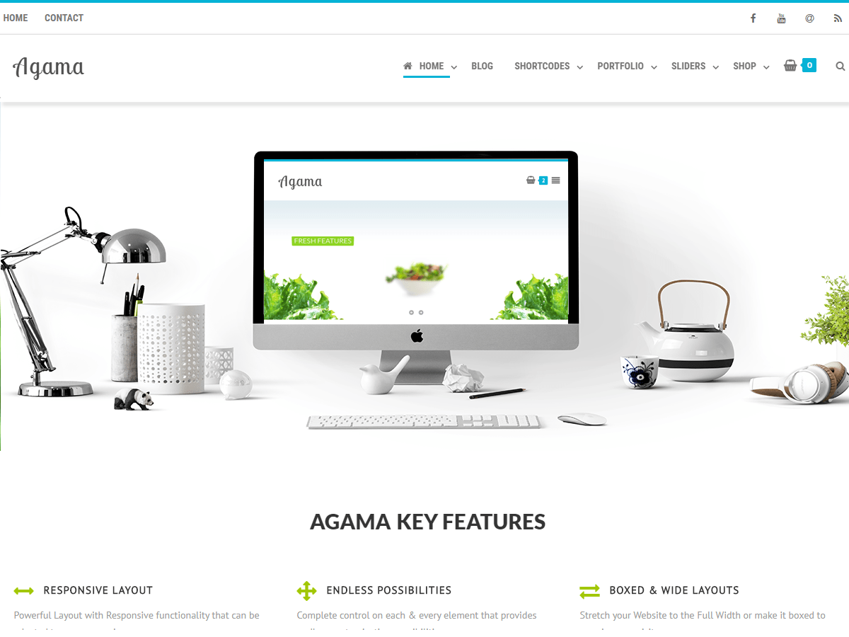 Agama Download Free WordPress Theme