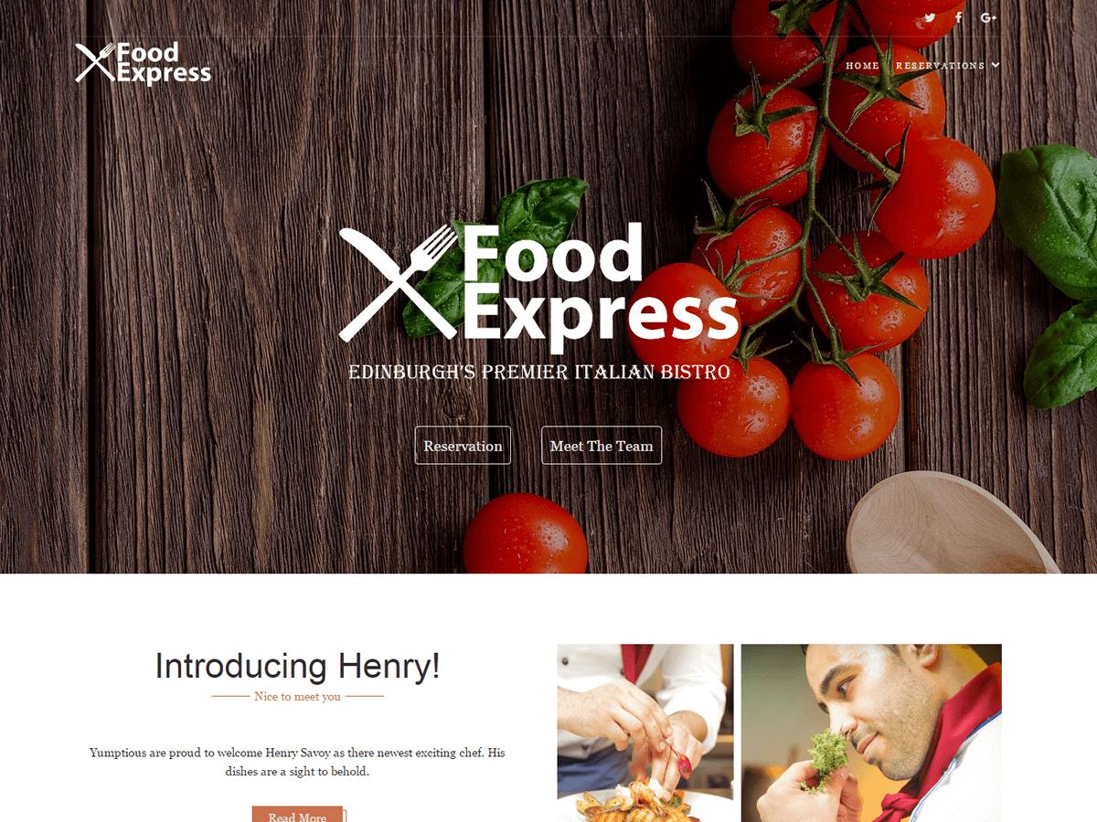 Food Express Download Free Wordpress Theme 3