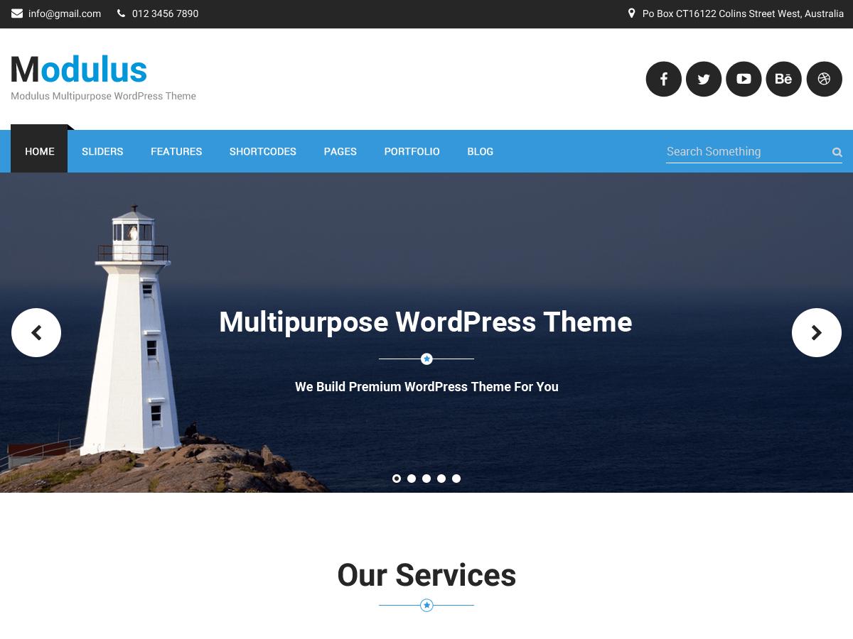 Modulus Download Free Wordpress Theme 5