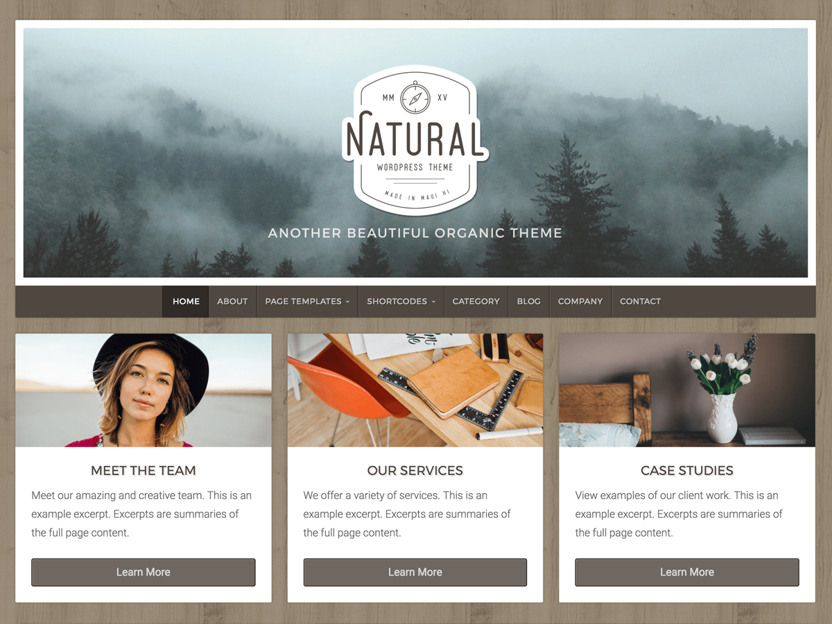 Natural Lite Download Free Wordpress Theme 5