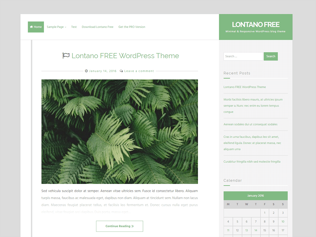 Lontano Download Free Wordpress Theme 2