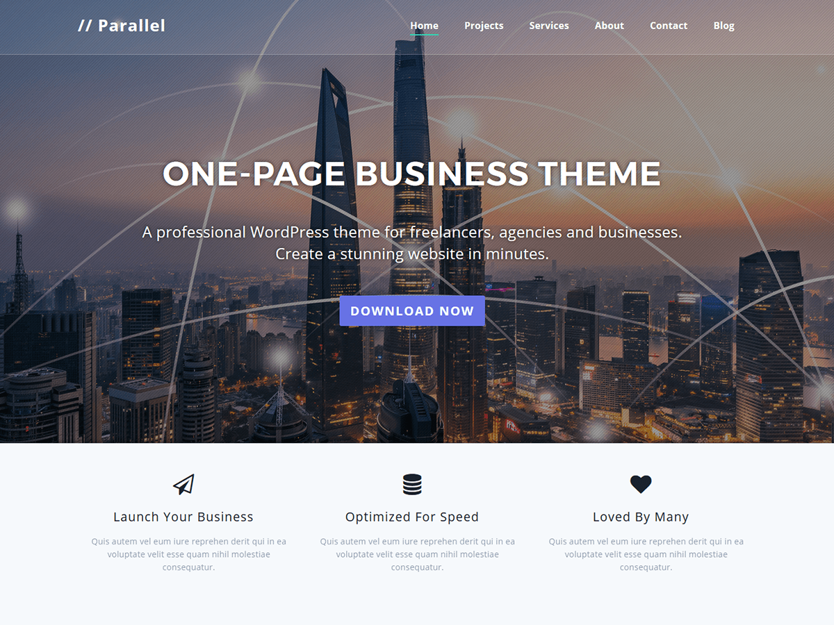 Parallel Download Free Wordpress Theme 2