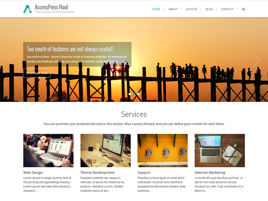 AccessPress Root Download Free Wordpress Theme 2