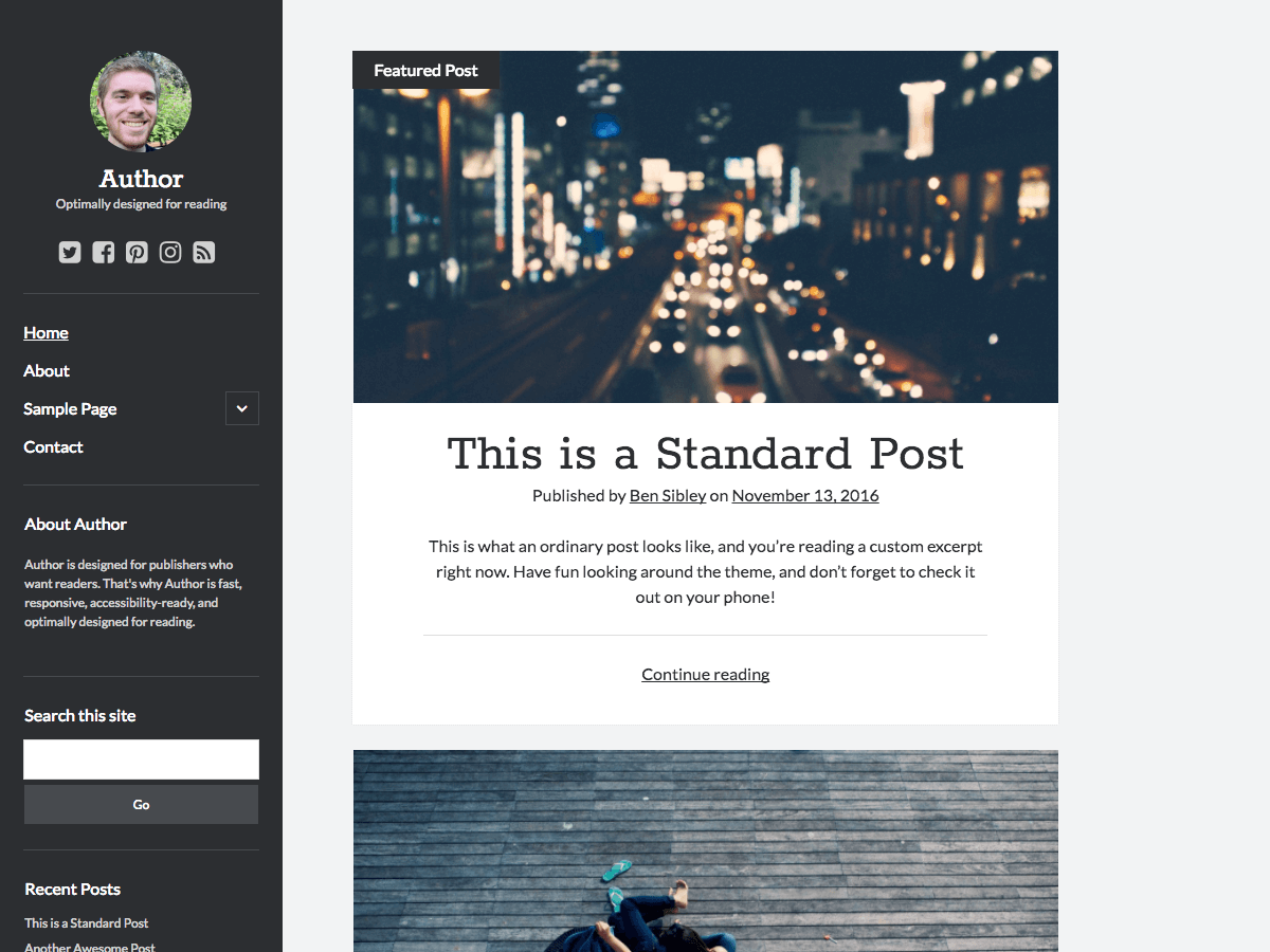 Author Download Free Wordpress Theme 2
