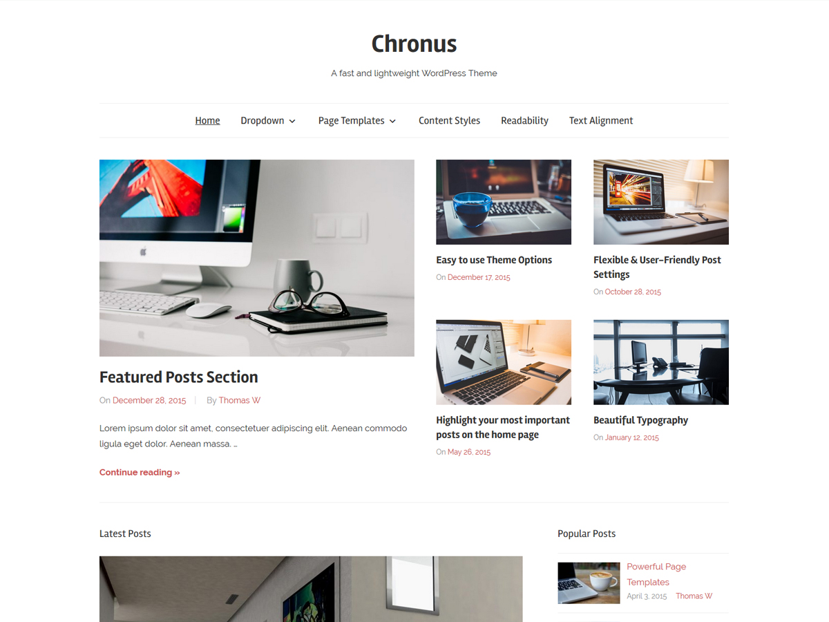 Chronus Download Free Wordpress Theme 3