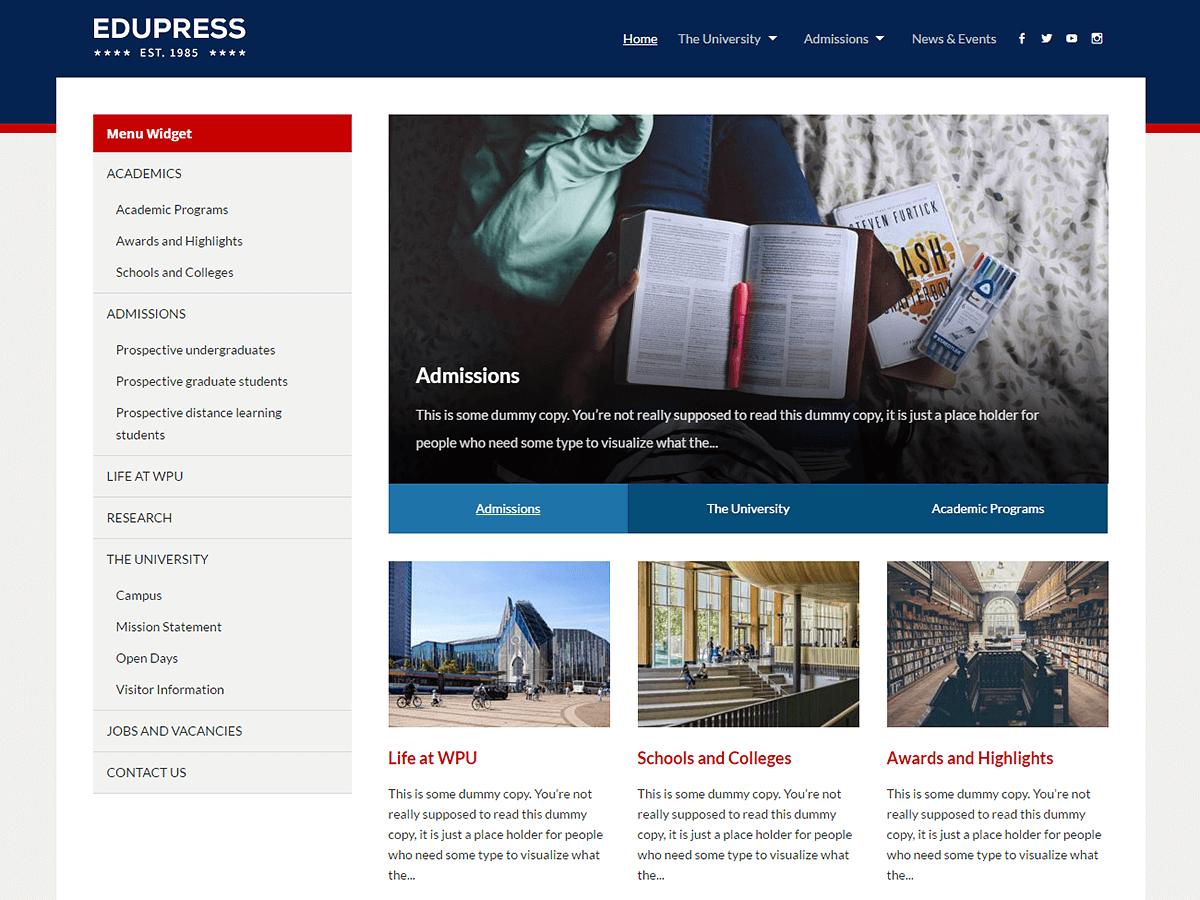 EduPress Download Free Wordpress Theme 2