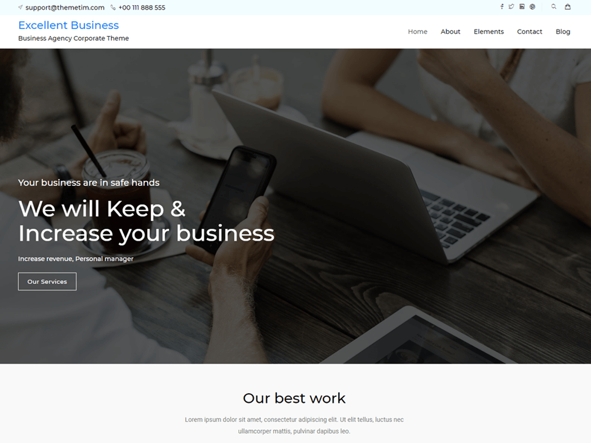 excellent-business Download Free Wordpress Theme 4