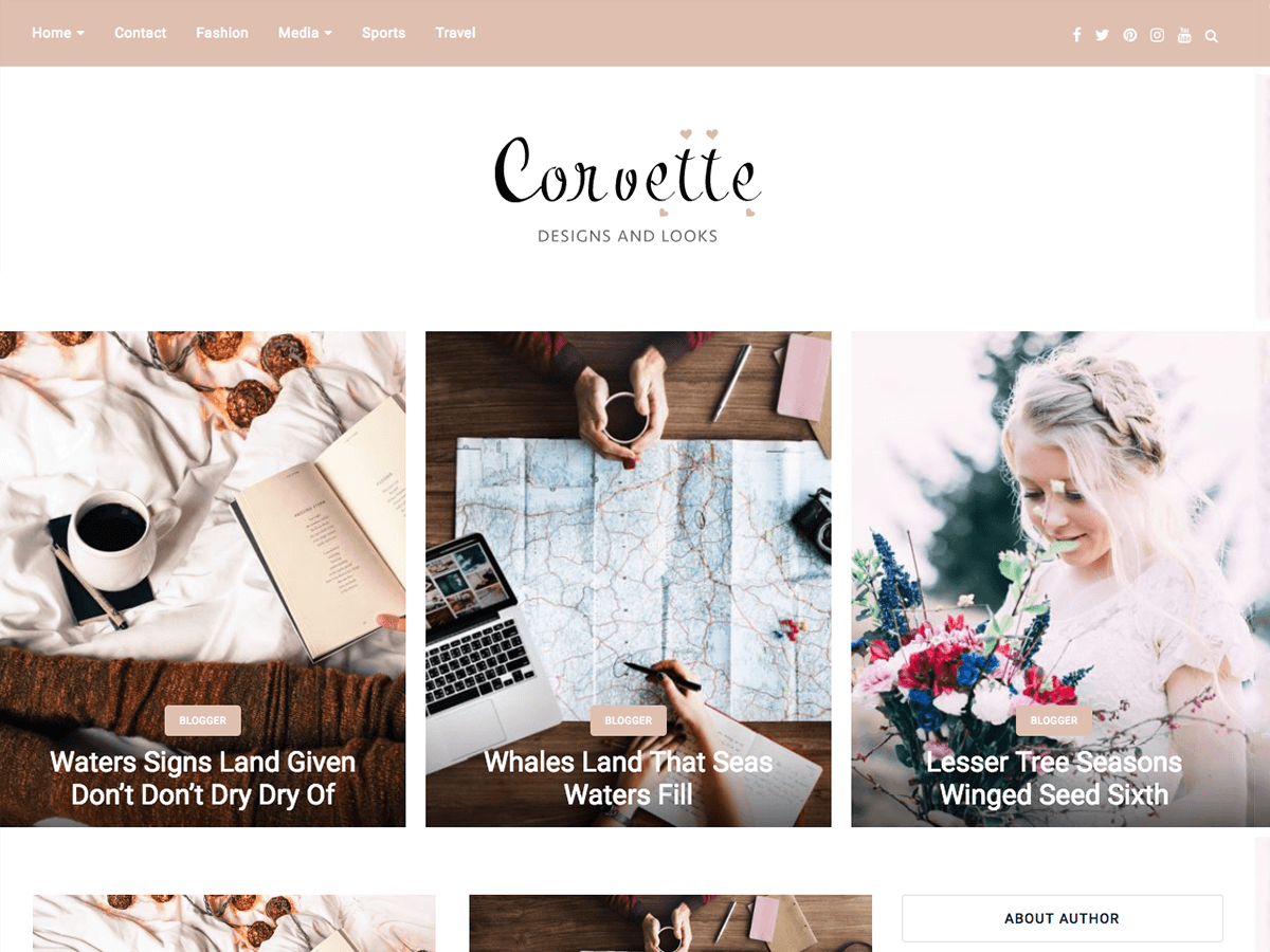 corvette Download Free Wordpress Theme 3