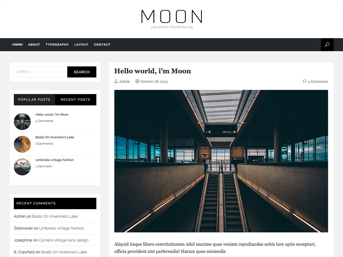 Moon Download Free Wordpress Theme 1
