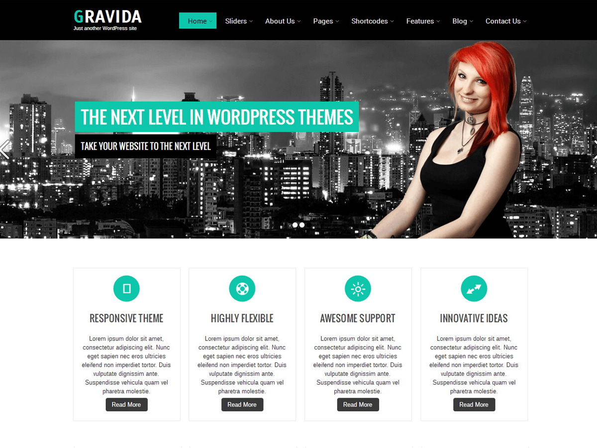 Gravida Download Free Wordpress Theme 2