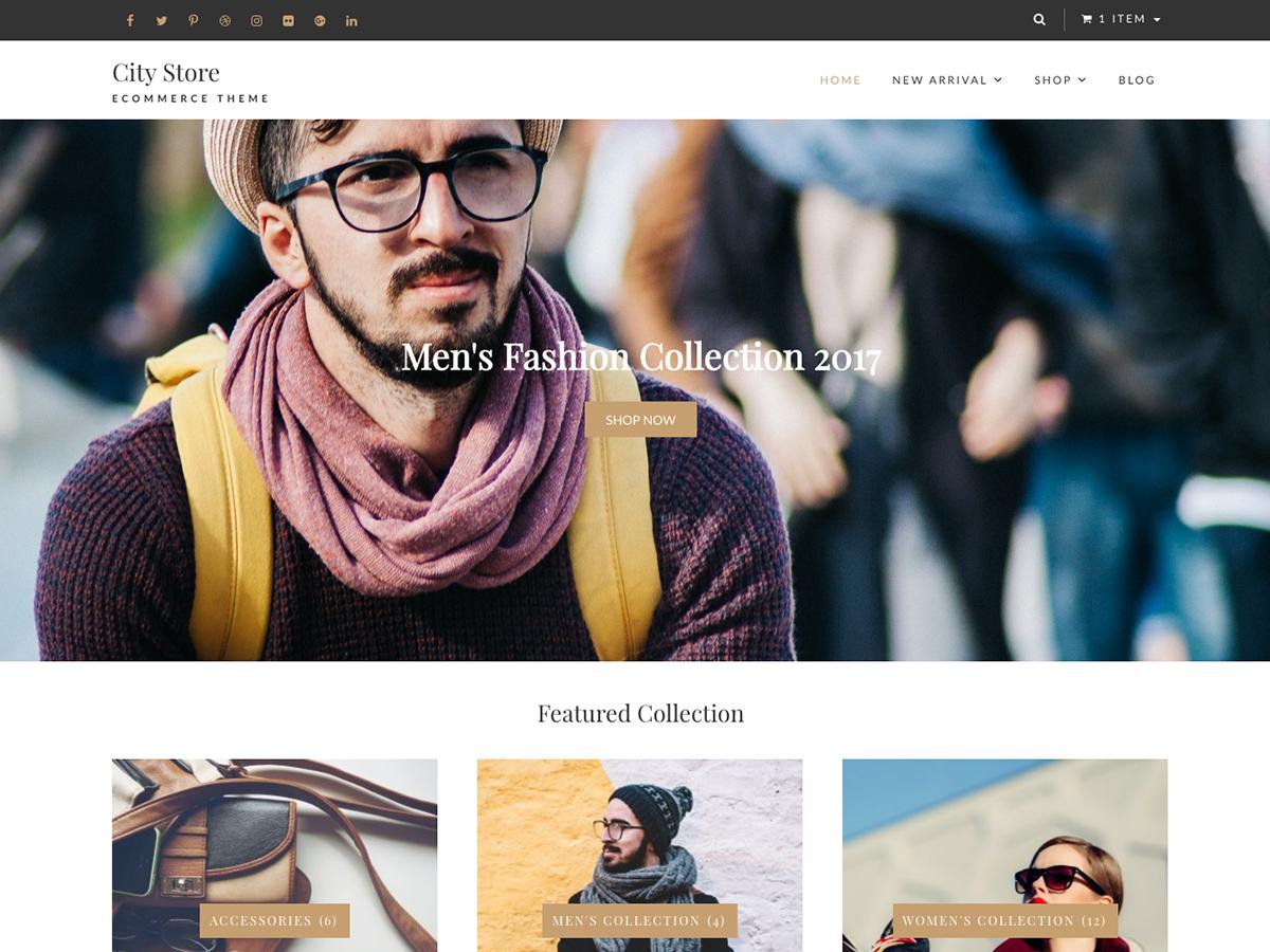 City Store Download Free Wordpress Theme 5