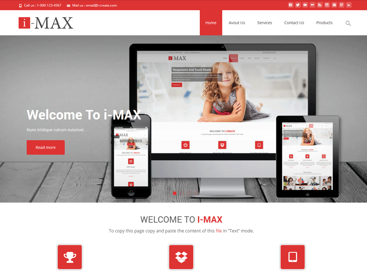 i-max Download Free Wordpress Theme 2