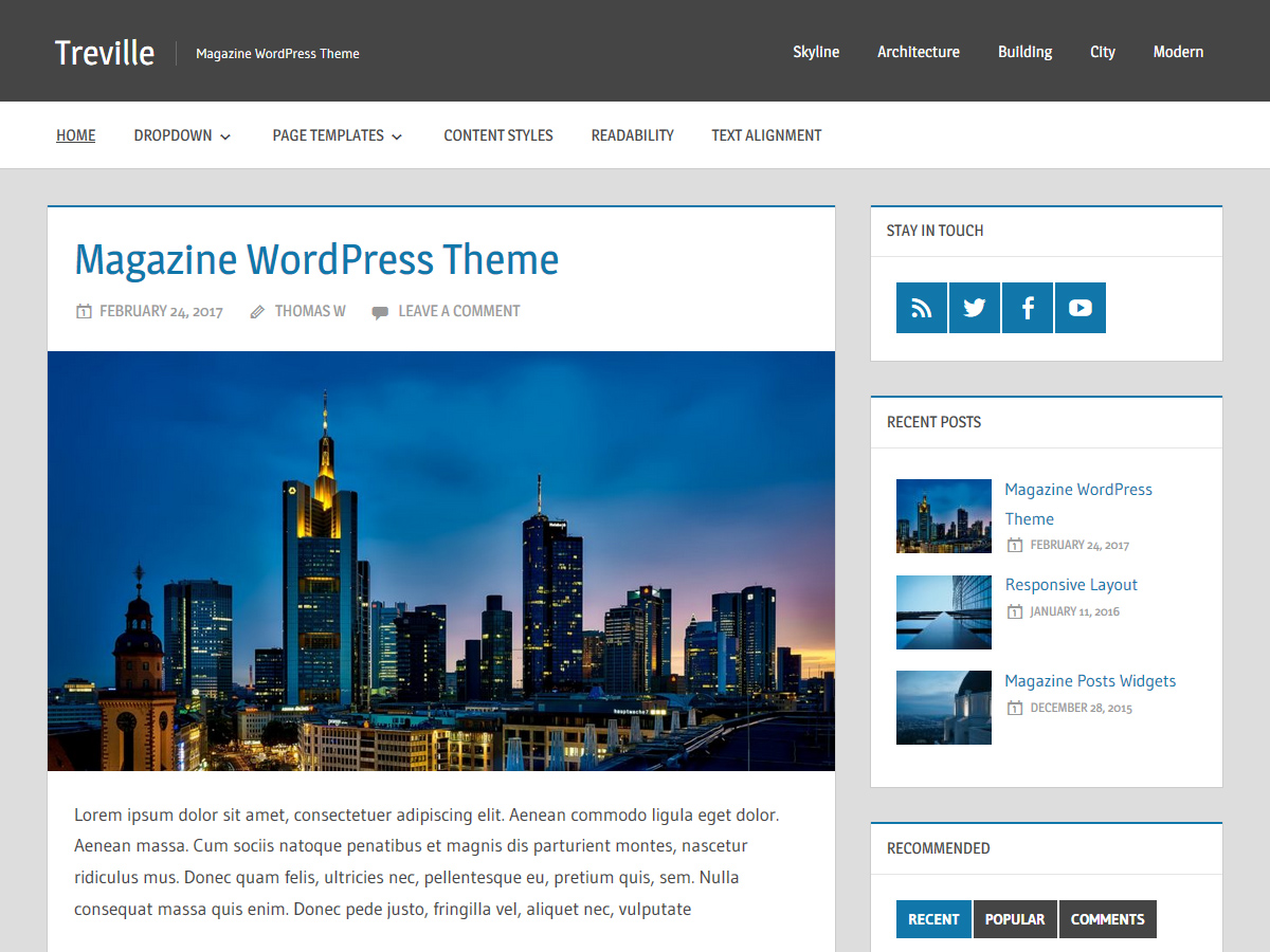 Treville Download Free Wordpress Theme 1