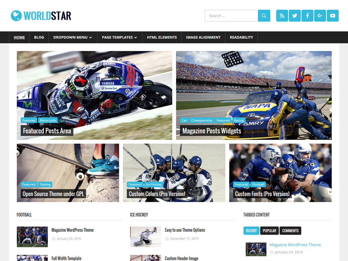 WorldStar Download Free Wordpress Theme 4