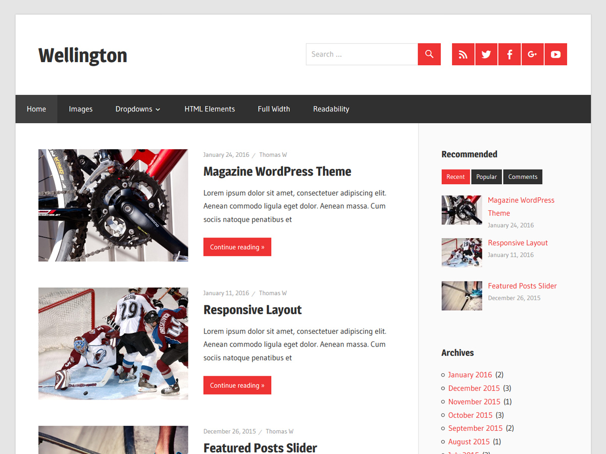 Wellington Download Free Wordpress Theme 3