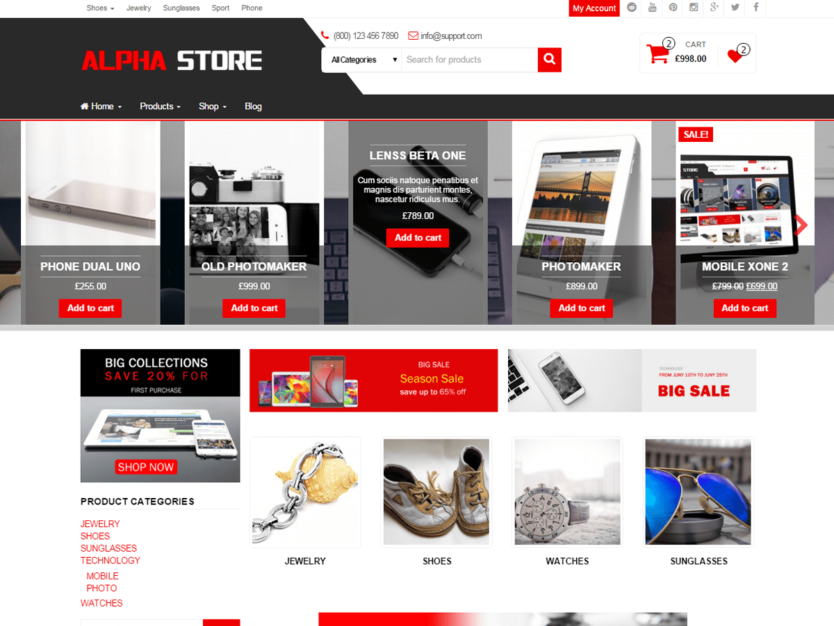 Alpha Store Download Free Wordpress Theme 3