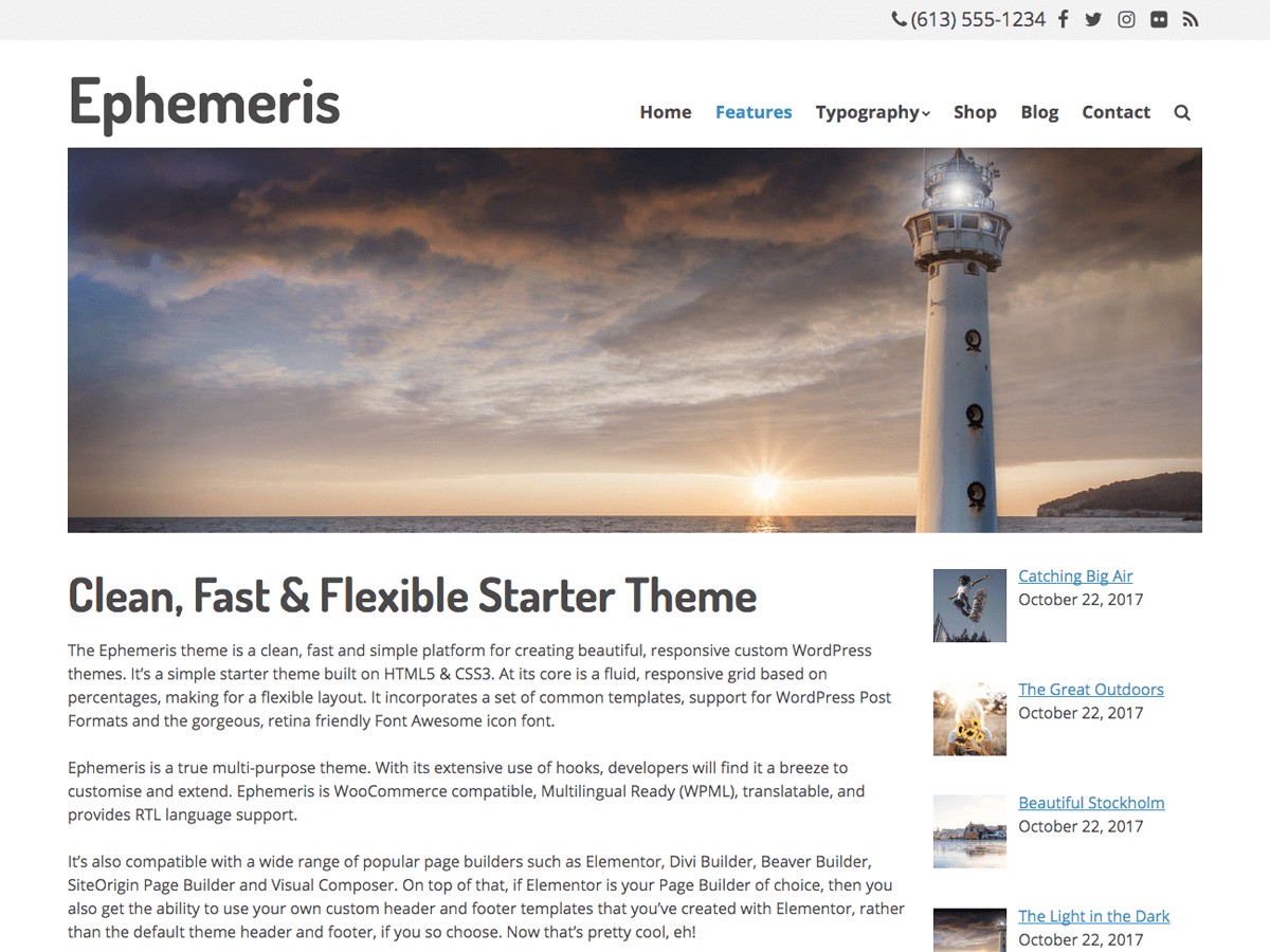 Ephemeris Download Free Wordpress Theme 4