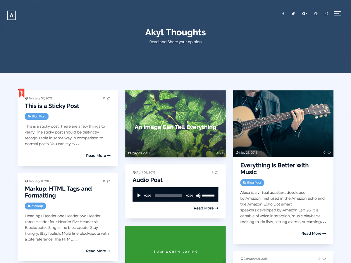 Akyl Download Free Wordpress Theme 4