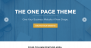 One Page Download Free WordPress Theme