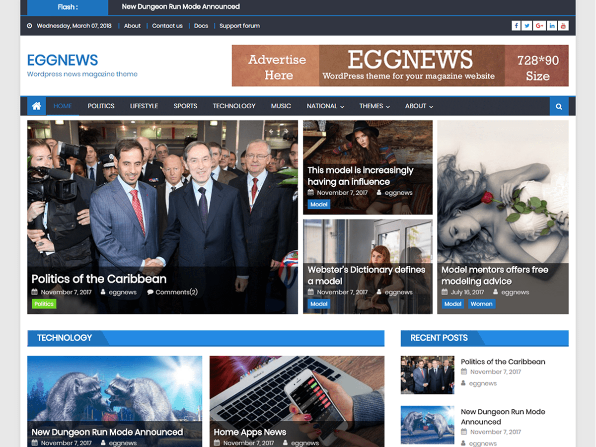 Eggnews Download Free WordPress Theme
