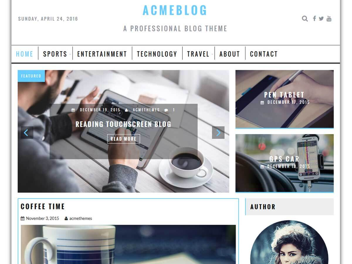 AcmeBlog Download Free Wordpress Theme 4
