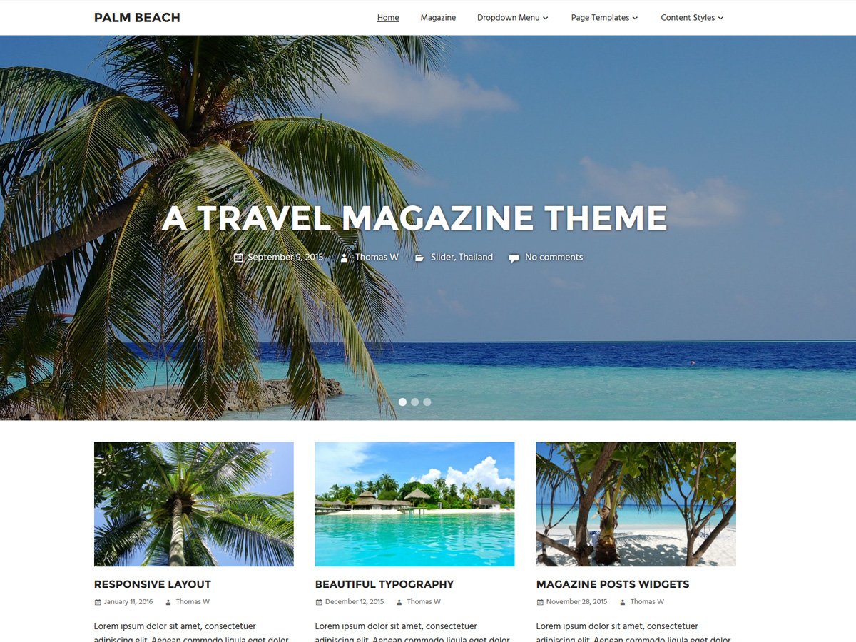 Palm Beach Download Free Wordpress Theme 5