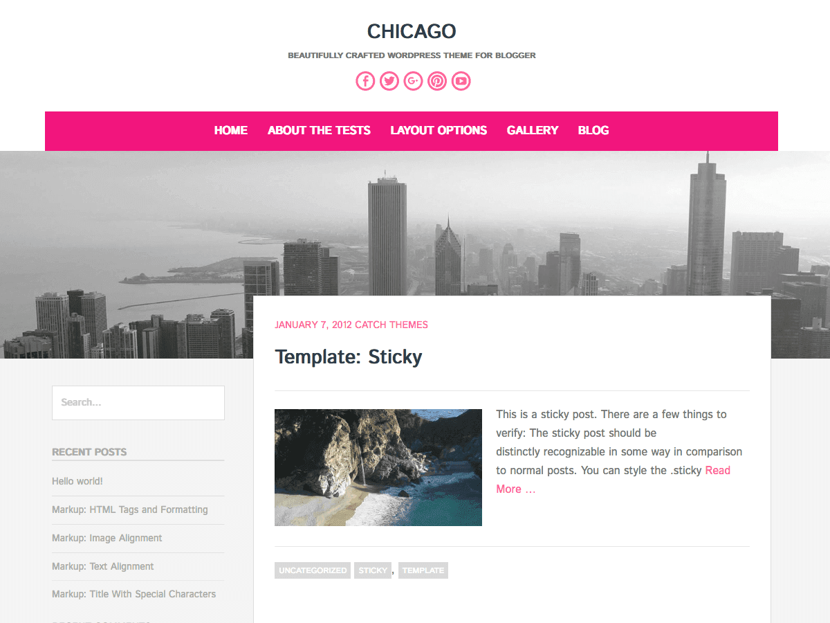 Chicago Download Free Wordpress Theme 2