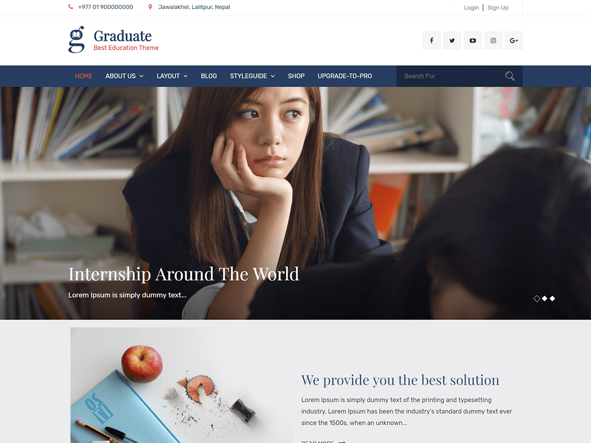 Graduate Download Free Wordpress Theme 5