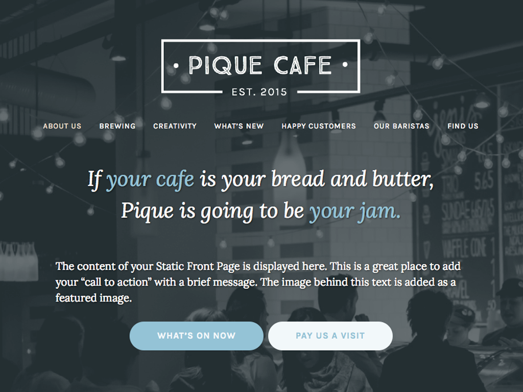 Pique Download Free Wordpress Theme 3