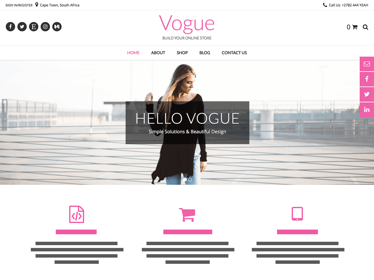 Vogue Download Free Wordpress Theme 2