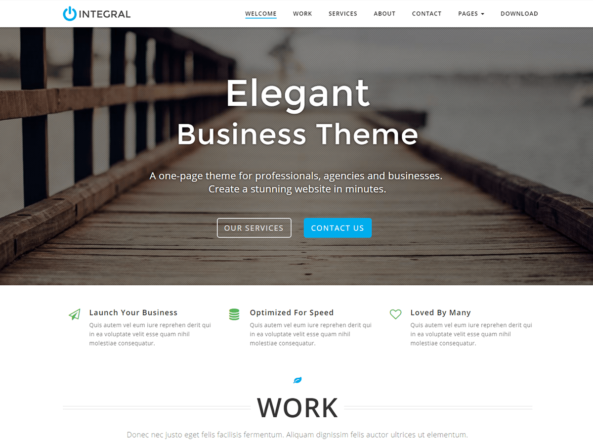 Integral Download Free Wordpress Theme 4
