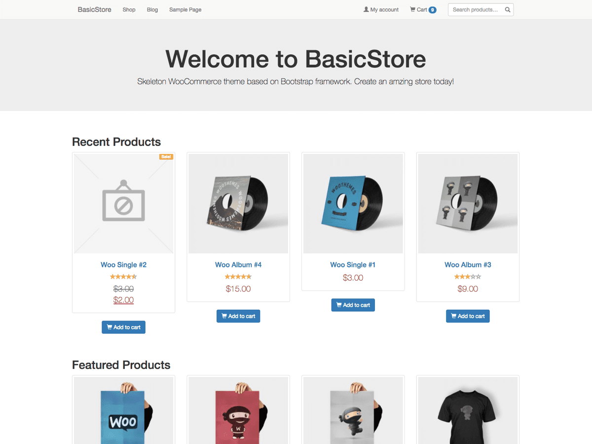 BasicStore Download Free Wordpress Theme 1