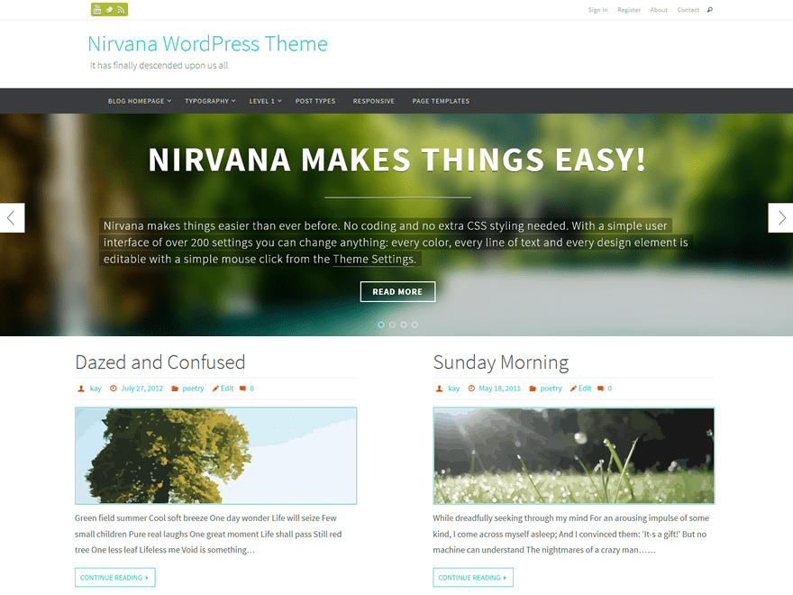 Nirvana Download Free Wordpress Theme 2