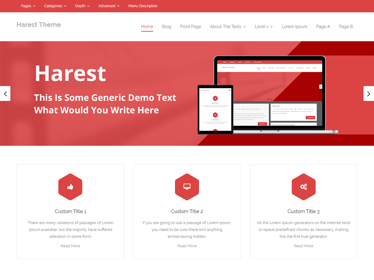Harest Download Free Wordpress Theme 2