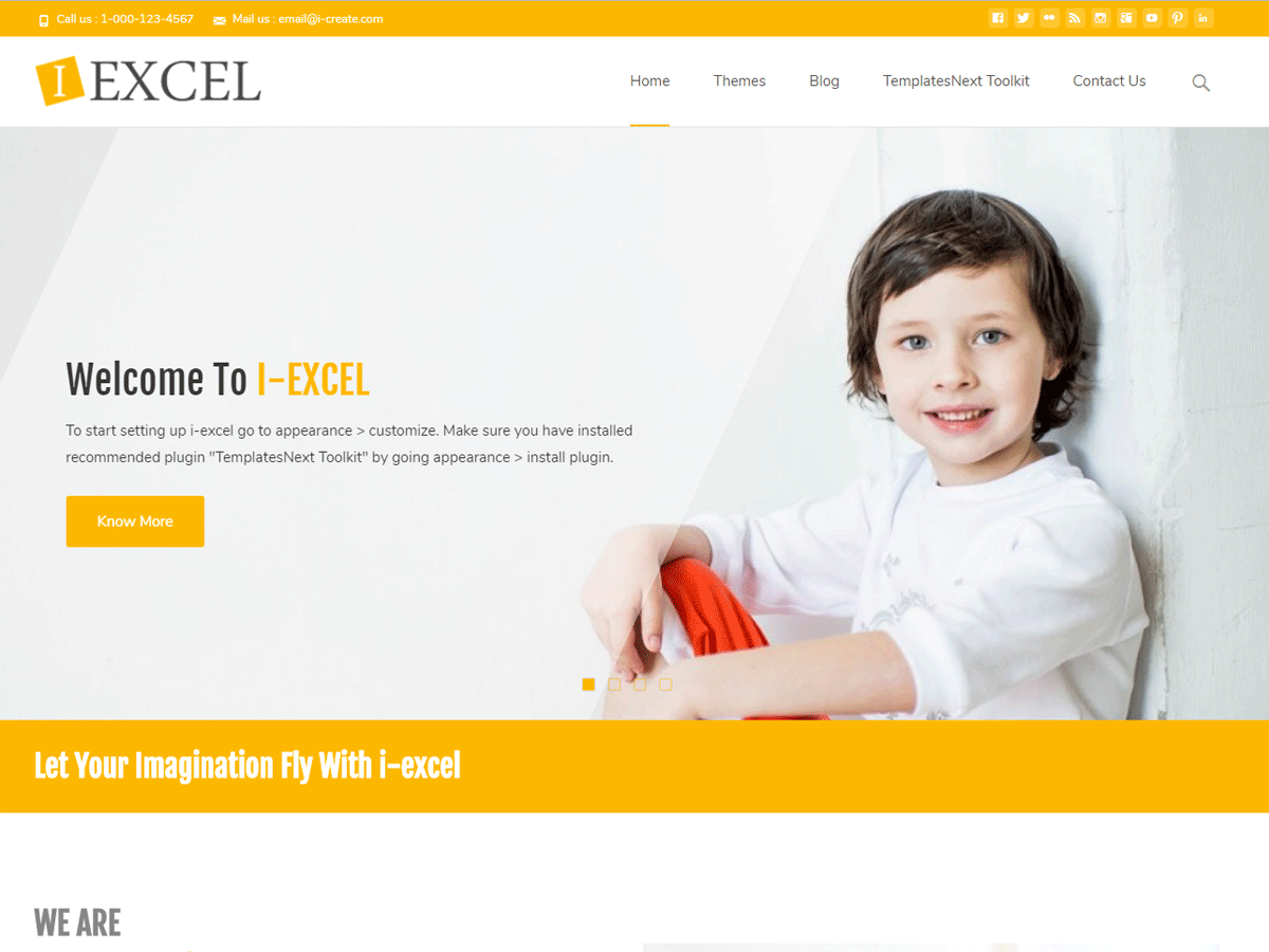 i-excel Download Free Wordpress Theme 4