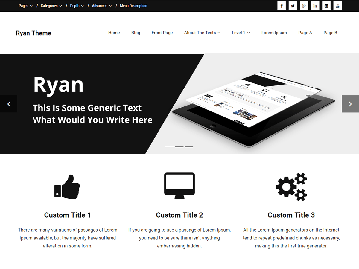 Ryan Download Free Wordpress Theme 4