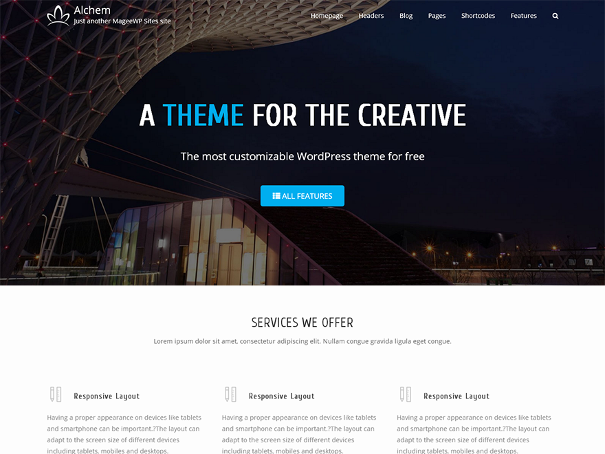 Alchem Download Free WordPress Theme