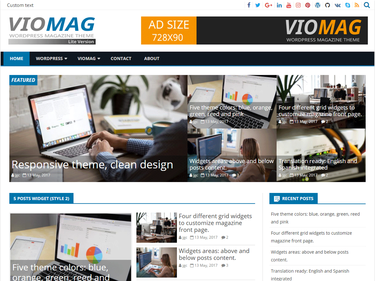 VioMag Download Free Wordpress Theme 2
