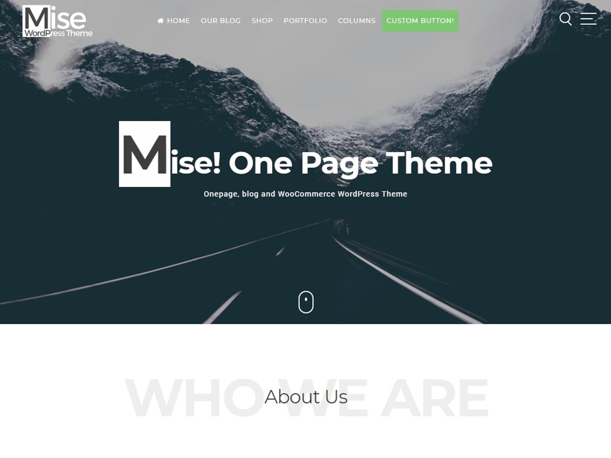 Mise Download Free Wordpress Theme 2